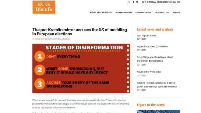 Web europea contra la desinformación.