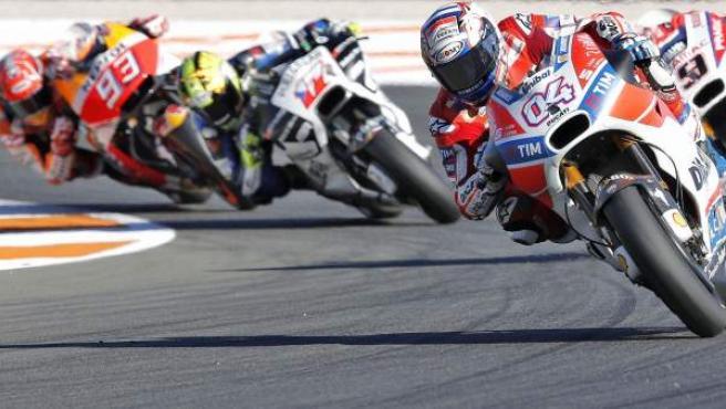 Una imagen de los entrenamientos de MotoGP en Valencia.
