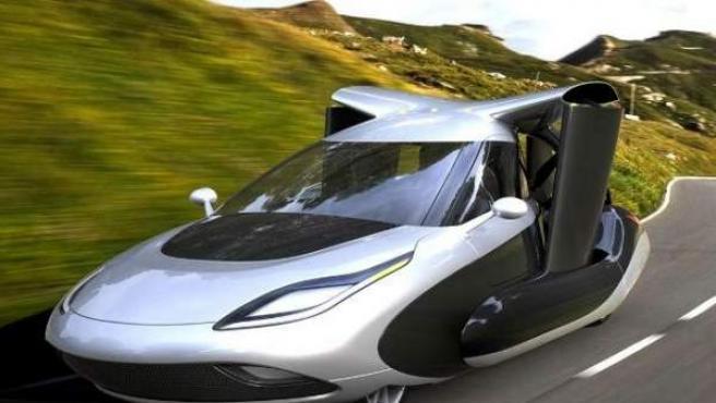 Terrafugia, la 'startup' de la empresa china Geely, ha trabajado durante años en distintos prototipos de coche volador. En imagen, el TF-X.