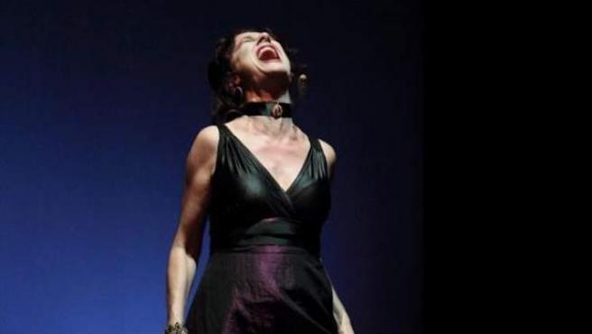 La actriz Velilla Valbuena durante el evento 'Dirige, mentorías a escena'.