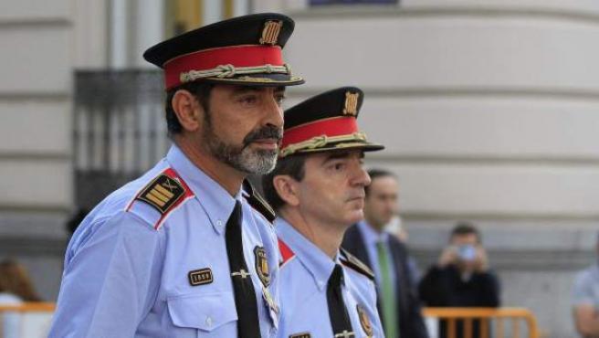 Trapero, a su llegada a la Audiencia Nacional.