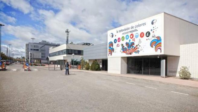 La sede de Telecinco y el grupo Mediaset, en el barrio madrileño de Fuencarral.