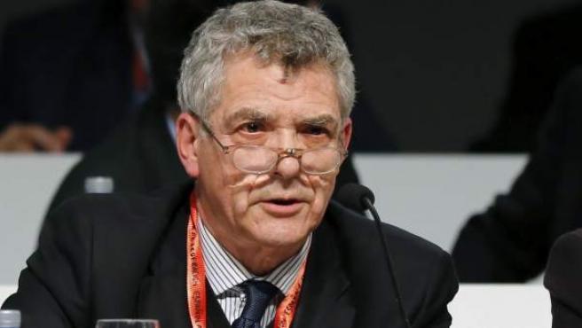 Fotografía de archivo del 22/03/2016 del presidente cesado de la Federación Española de Fútbol, Ángel Maria Villar.