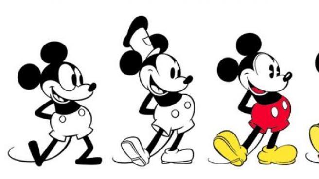 Mickey Mouse, desde su creación en 1928 a la actualidad.