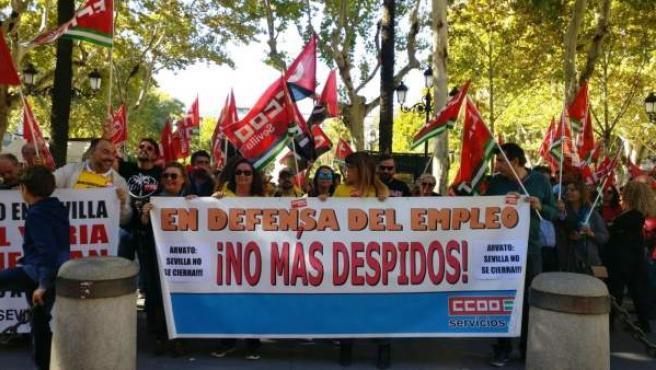 Protesta por el cierre de Arvato.