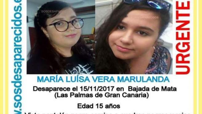Joven desaparecida en Las Palmas de Gran Canaria