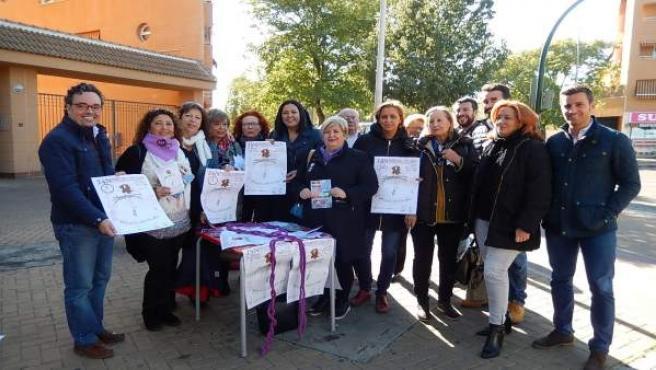 Lola Amo en la mesa de la Plataforma Cordobesa Contra la Violencia a Mujeres