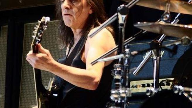Imagen de 2010 de Malcolm Young, fundador y guitarrista de AC/DC.