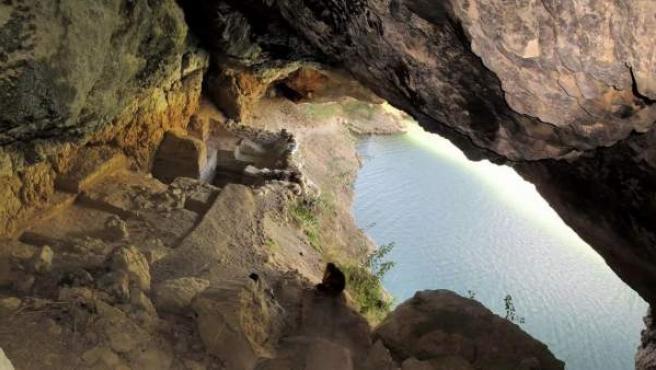 Vista de Cueva Antón, en el término de Mula (Murcia).