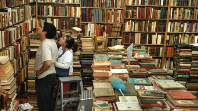 Imagen del interior de una librería.