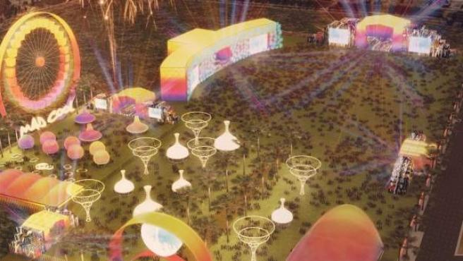 Ilustración del Mad Cool Festival.