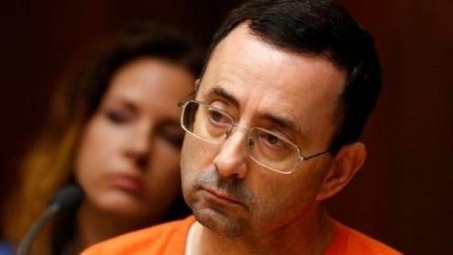 El médico Larry Nassar, durante una de sus declaraciones ante el tribunal.