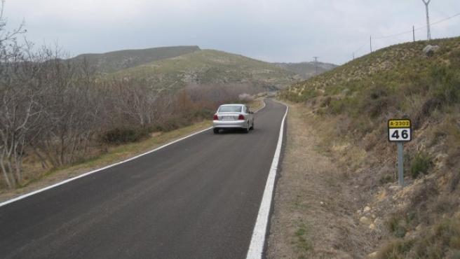 Ejemplo de carretera secundaria en Cádiz.
