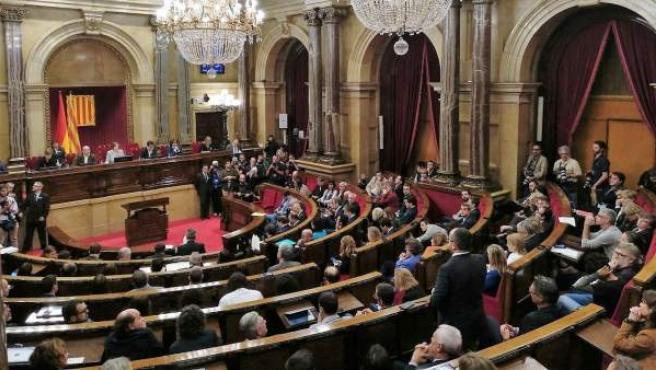 Imagen de archivo de un pleno del Parlament.