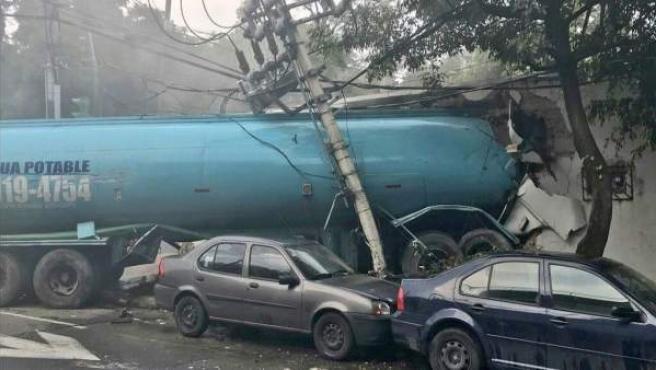 Accidente mortal camión cisterna