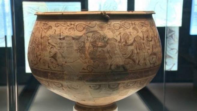 El 'vaso de los guerreros' en la muestra