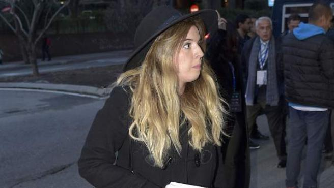 Giannina, hija de Diego Armando Maradona, en una foto tomada en Madrid el pasado mes de febrero.