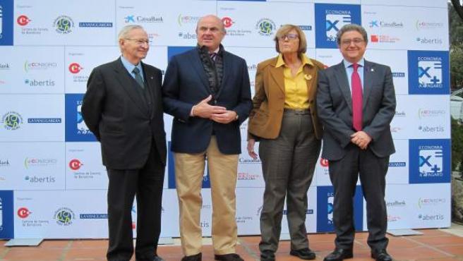 Miquel Valls, Luis de Guindos, Anna Balletbò, Enric Millo
