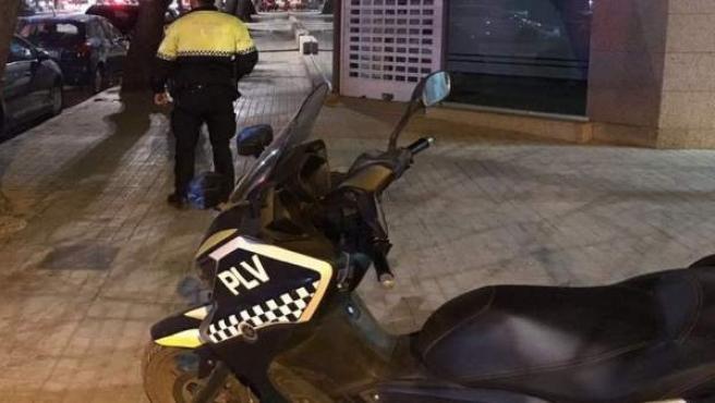 Moto de la Policía Local de València