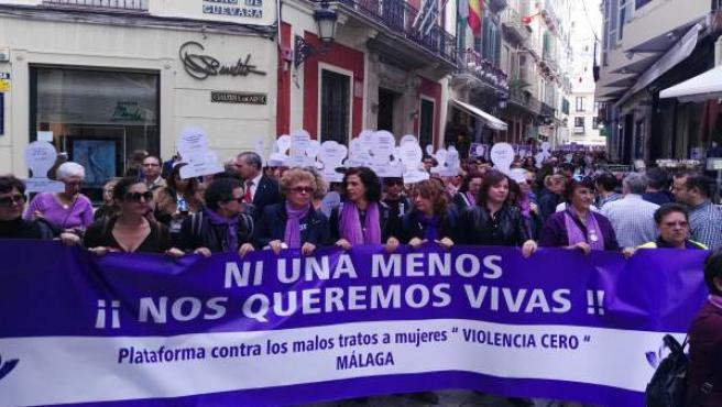 Manifestación contra los malos tratos Málaga 2017