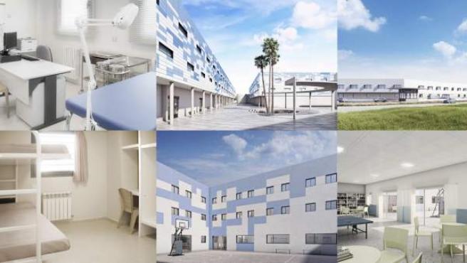 Recreación del futuro CIE de Algeciras, que será el más grande de España.