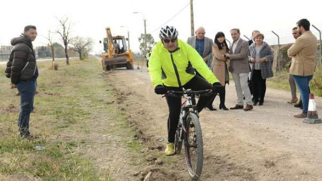 Obras de la vía ciclista entre Armilla y Alhendín