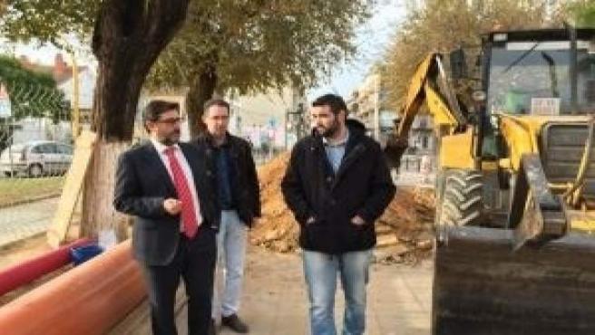 José María Villalobos visita las obras de remodelación del paseo de Consolación