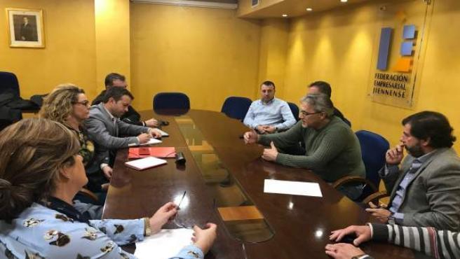 Reunión de representantes del PSOE y Comercio Jaén.