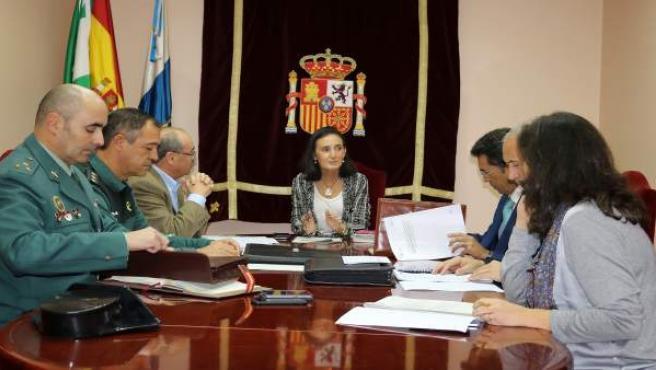 La subdelegada del Gobierno en Huelva, Asunción Grávalos, preside un comité.