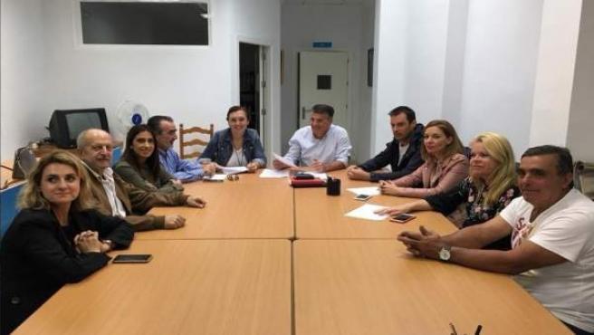 Nerja ediles PP firman acuerdo moción de censura con Cs fallida 2017