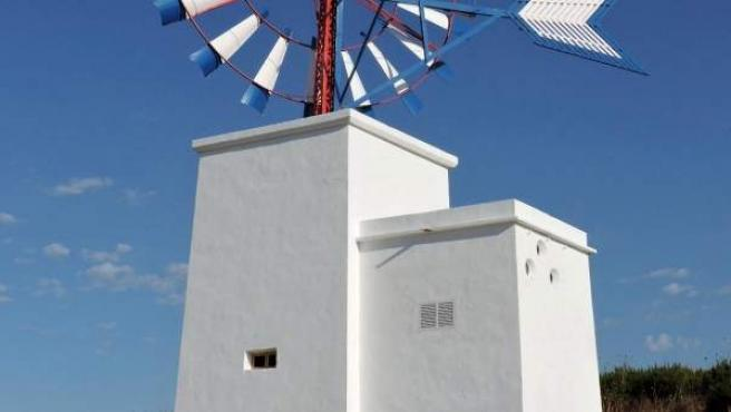 Molino de viento restaurado