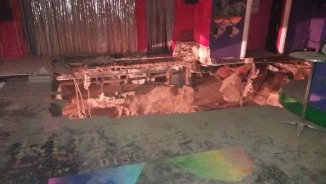 Desplome de la discoteca en Adeje
