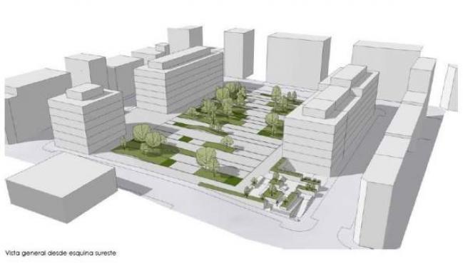 Infografía del desarrollo urbanístico de la parcela de la antigua prisión provin