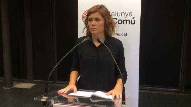 La coordinadora de comunicación de Catalunya en Comú, Elisenda Alamany.
