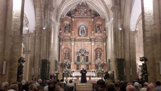 Inauguración de la nueva iluminación interior de la Iglesia de San Miguel