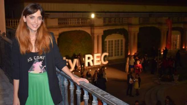 La actriz Leticia Dolera durante el evento de cine inmersivo organizado en torno a la película 'REC 3'.