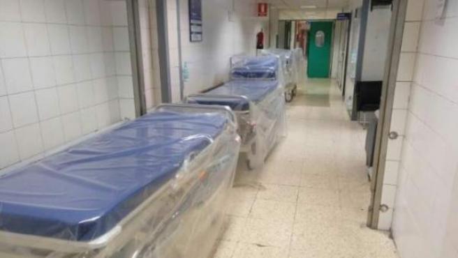 Anuncio en Wallapop de un centenar de trabajadores del Hospital La Paz.