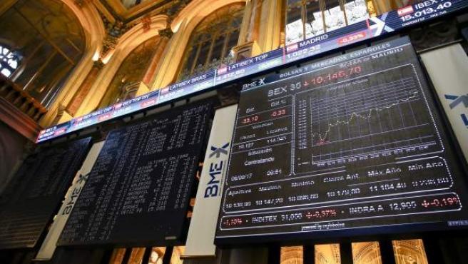 El IBEX 35, principal indicador de la Bolsa española.