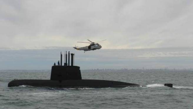 El submarino argentino ARA San Juan, en una imagen sin fecha cedida por la Armada Argentina.