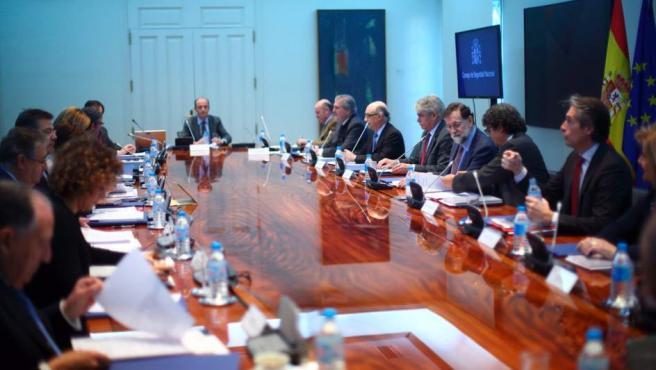 El presidente, Mariano Rajoy, preside el Consejo de Seguridad Nacional.