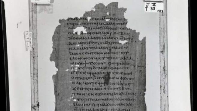 No parece ser un breve extracto del texto, sino más bien una copia completa de una antigua escritura prohibida.