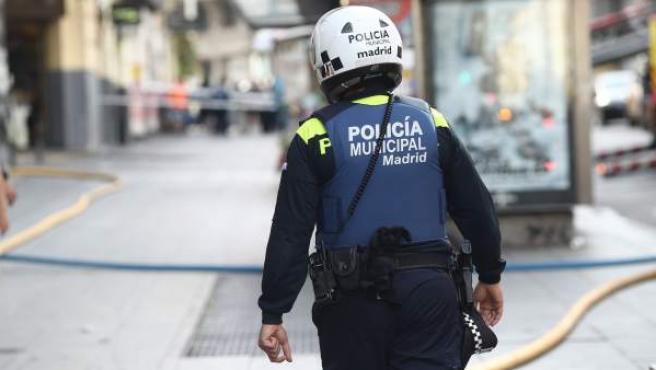 Un policía municipal de Madrid.