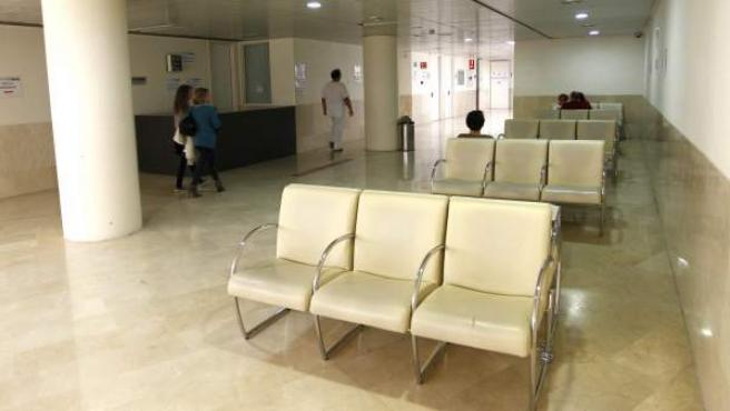 Sala de espera del hospital Gregorio Marañón de Madrid.