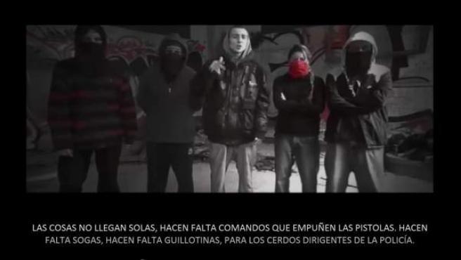 Varios miembros del grupo La Insurgencia.