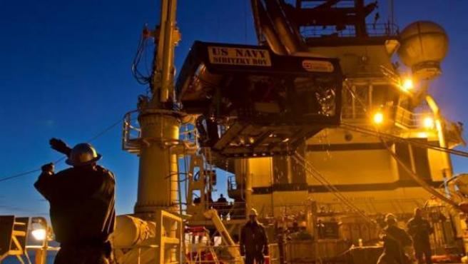 Un vehículo submarino de rescate de la Marina estadounidense participa en las labores de búsqueda del submarino de la Armada argentina ARA San Juan, desaparecido en el océano Atlántico.