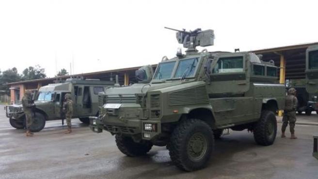 Vehículos militares del ejército español.