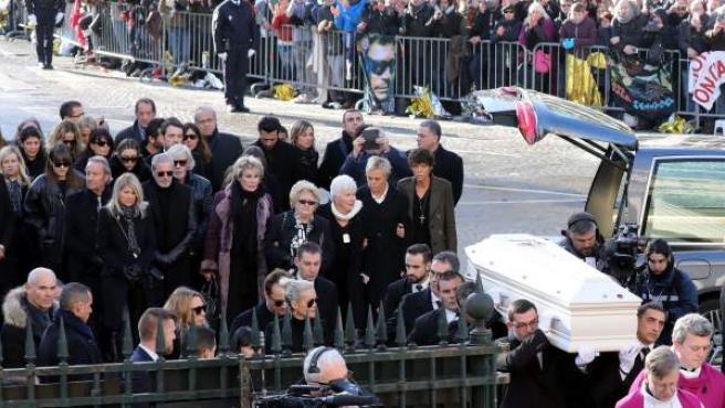 Una imagen del funeral del cantante francés Johnny Hallyday.