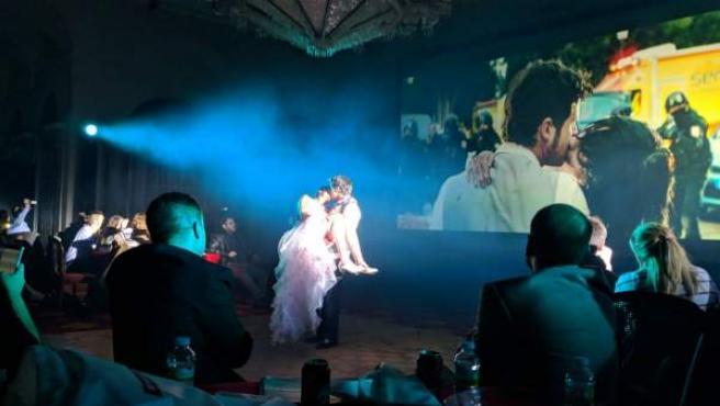 Una experiencia de cine inmersivo organizada por Vodafone Yu en torno a la película 'REC 3'.