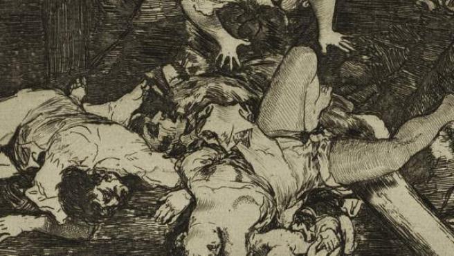 'Estragos de la guerra', de Goya, presente en la exposición