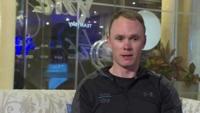El ciclista británico Chris Froome, en la BBC.